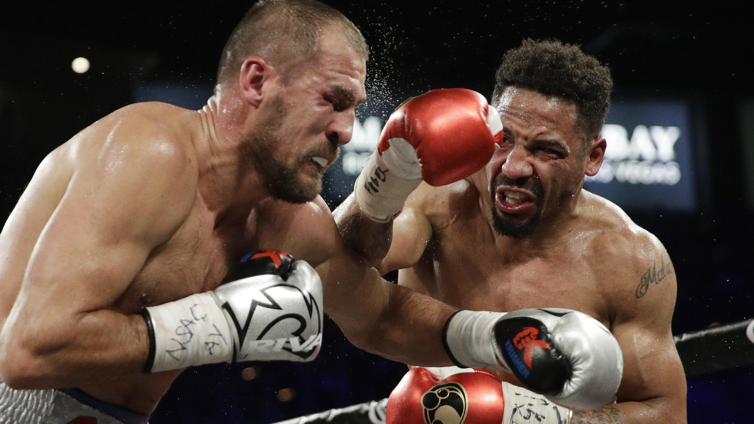 Ward ends close bout with flurry of blows